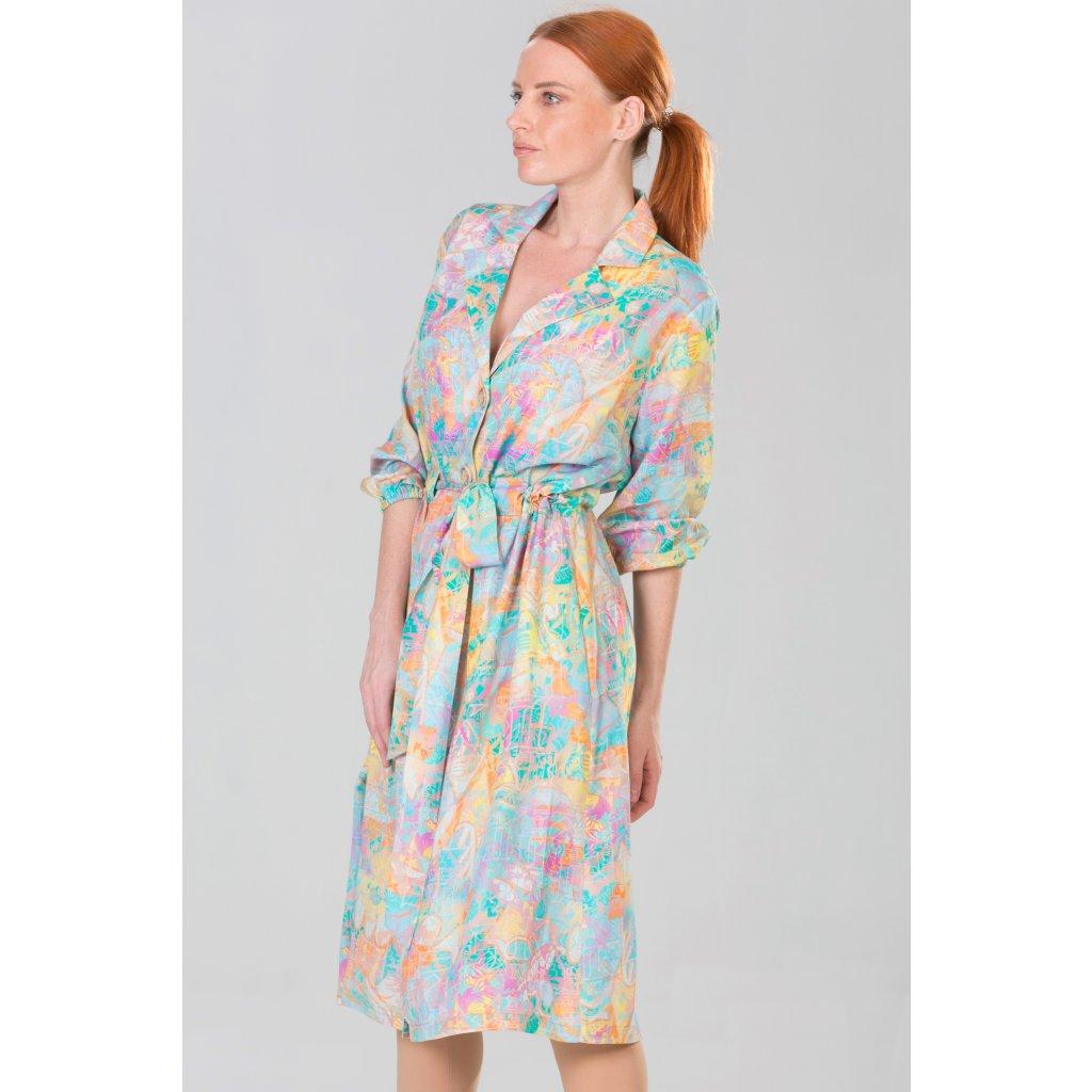 JK Klett polodlouhé, lehké šaty TERRA s fazónou sakového střihu