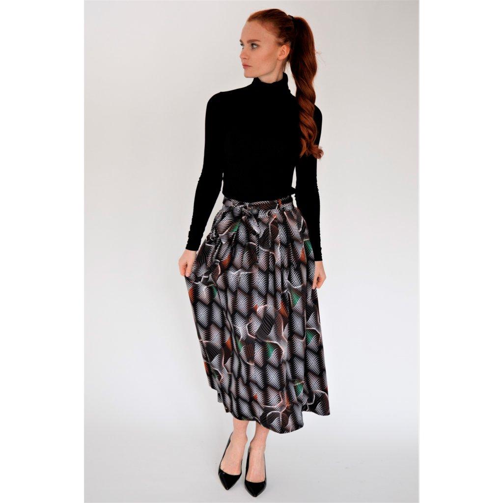 Bavlněná midi sukně MATRIX