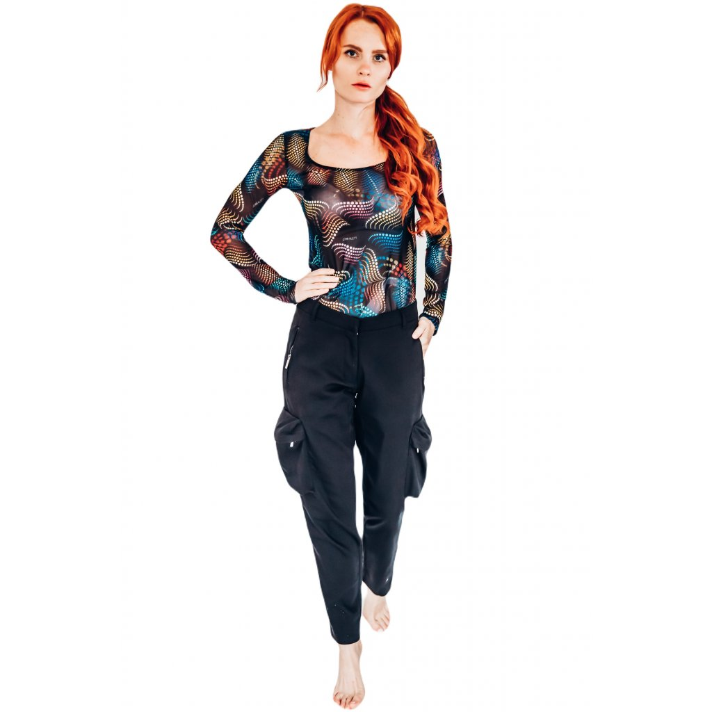 Černé Cargo kalhoty MATRIX