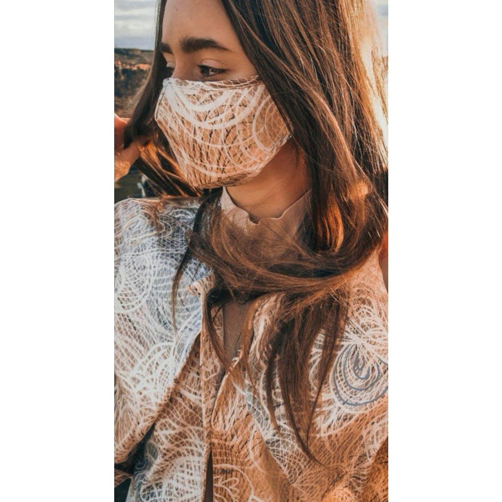 Designérská, bavlněná maska Integrity