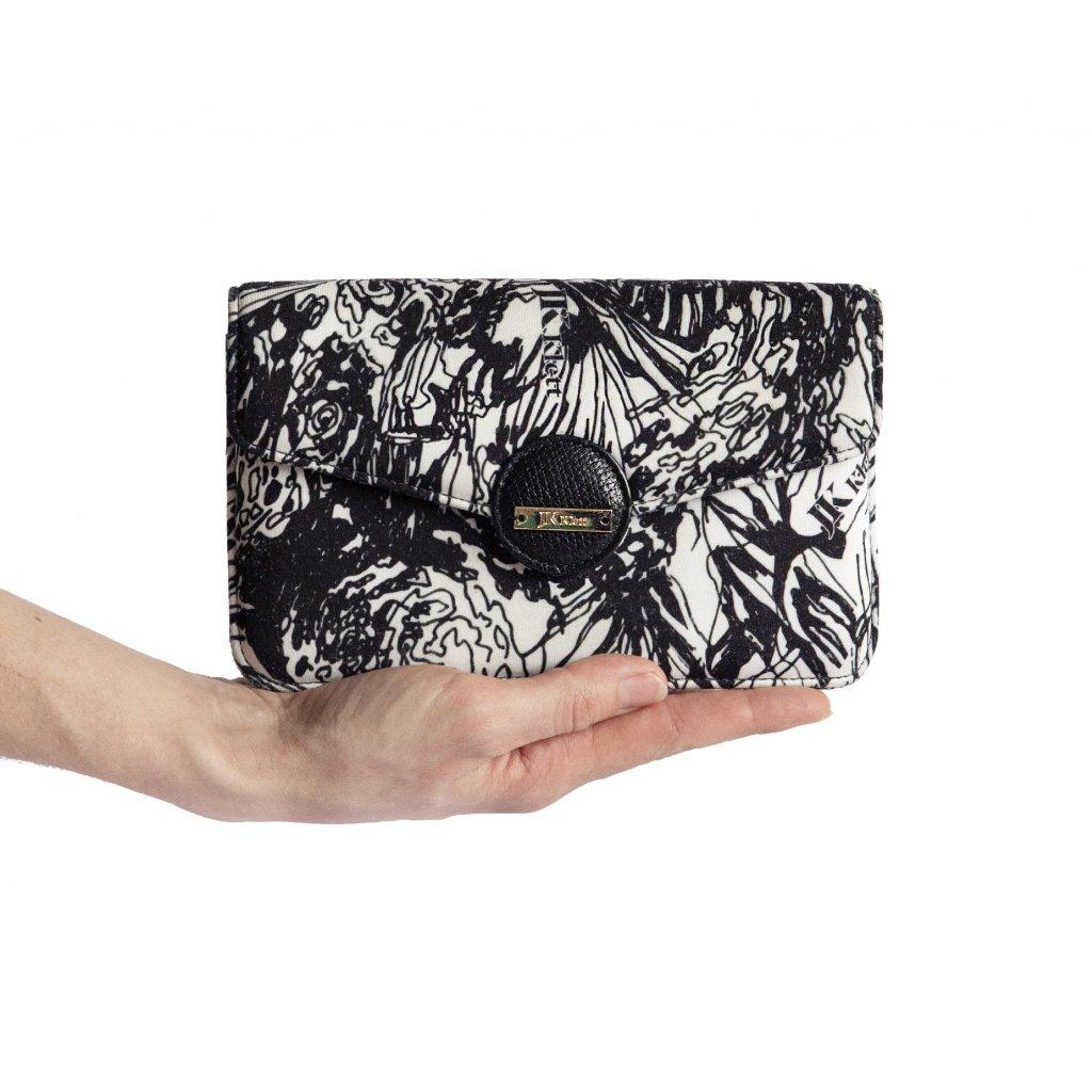 Černobílá mini kabelka