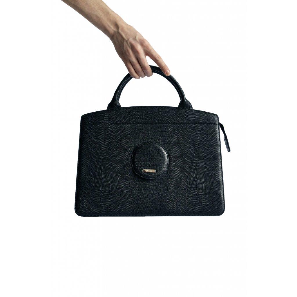 JK Klett LIBERTA velká černá kožená kabelka/ LIMITOVANÁ EDICE