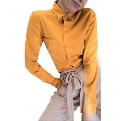 Dámská košile s dlouhým rukávem TERRA žlutá