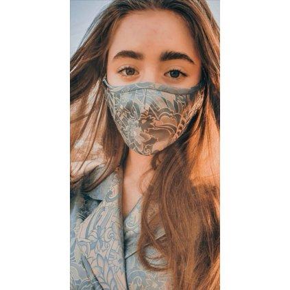 Designérská, bavlněná maska - Inspira
