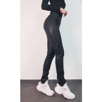 LIBERTA kožené kalhoty rovného střihu