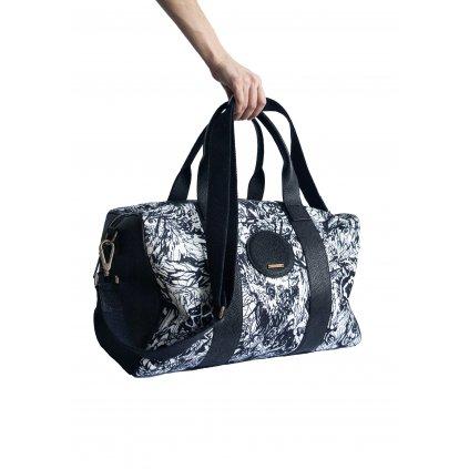 JK Klett víkendová taška LIBERTA s koženým lemováním/ LIMITOVANÁ EDICE